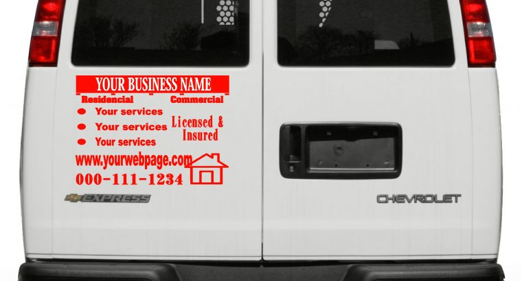 vehicle, van custom vinyl signs graphics